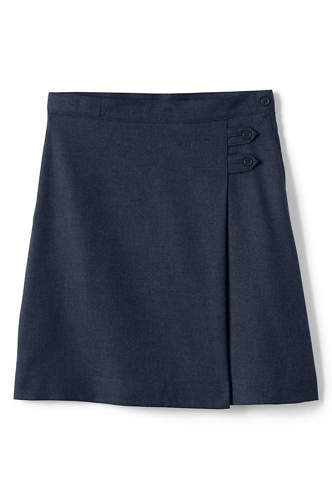 Girls Solid A-line Skirt Below the Knee, Front