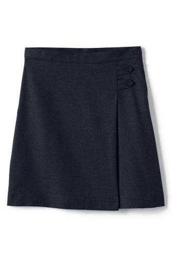 Little Girls' Solid A-line Skirt (Below The Knee) - Classic Navy, 6