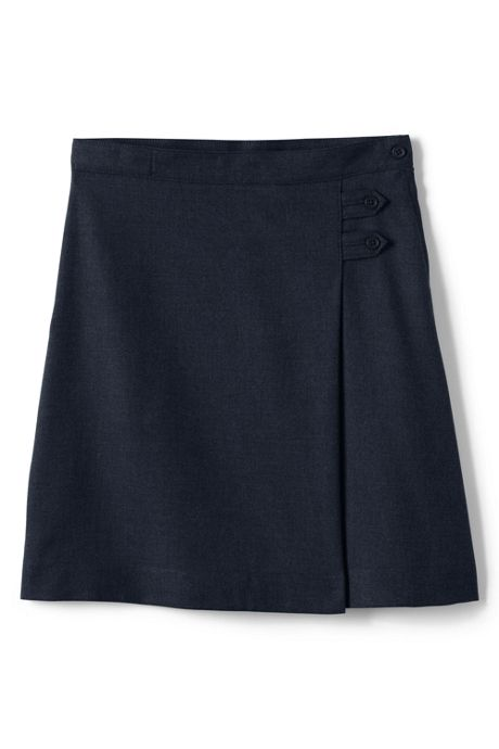 School Uniform Girls Plus Solid A-line Skirt Below the Knee