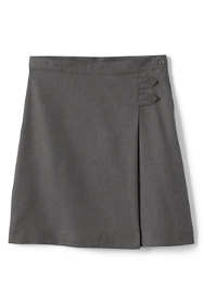 School Uniform Girls Solid A-line Skirt Below the Knee
