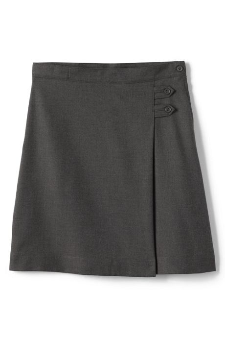 School Uniform Little Girls Solid A-line Skirt Below the Knee