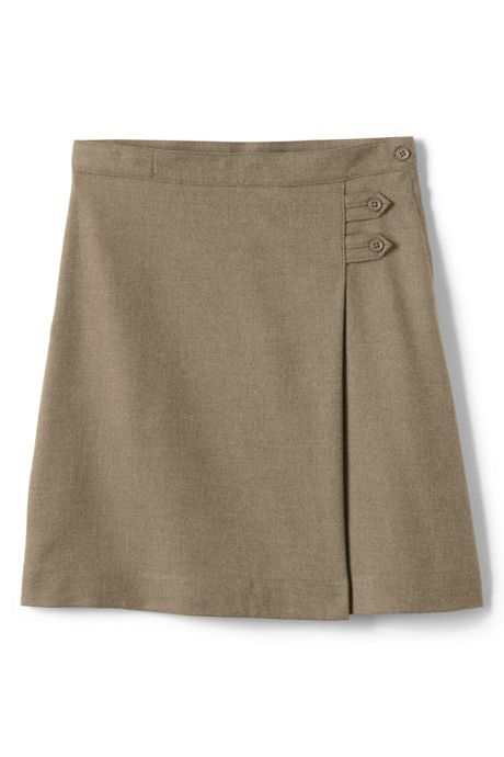 Girls Solid A-line Skirt Below the Knee