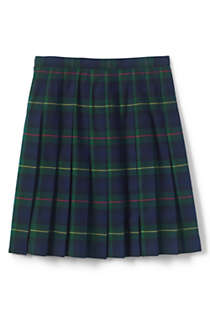 Girls Plaid Pleated Skirt Below the Knee, Back