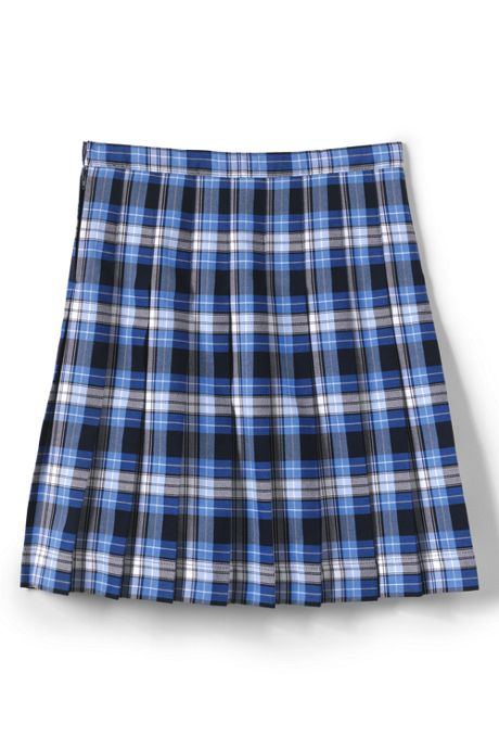 School Uniform Girls Plaid Pleated Skirt Below the Knee