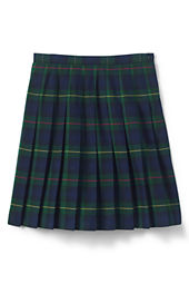 School Uniform Girls' Plaid Pleated Skirt (Below The Knee)
