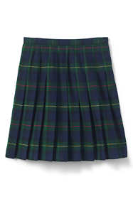School Uniform Little Girls Plaid Pleated Skirt Below the Knee