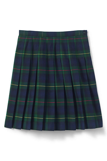 School Uniform Plaid Pleated Skirt Below the Knee from Lands' End