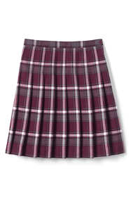 Girls Plaid Pleated Skirt Below the Knee
