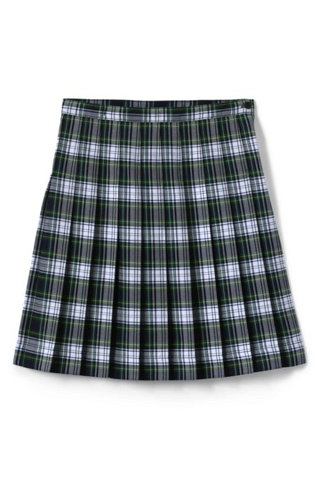 Little Girls Plaid Pleated Skirt Below the Knee