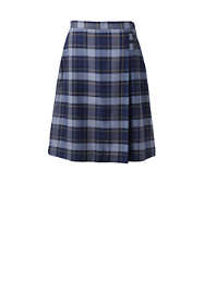 Women's Plaid A-line Skirt Below the Knee