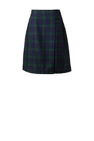 School Uniform Women's Plaid A-line Skirt Below the Knee