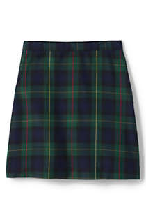 School Uniform Girls Plaid A-line Skirt Below the Knee, Back