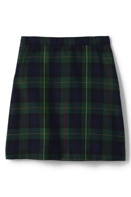 School Uniform Girls Plaid A-line Skirt Below the Knee