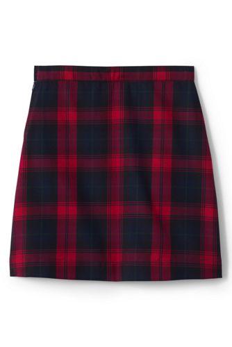 Girls Plus Plaid A-line Skirt Below the Knee