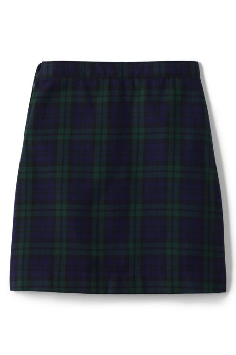 Girls Plaid A-line Skirt Below the Knee