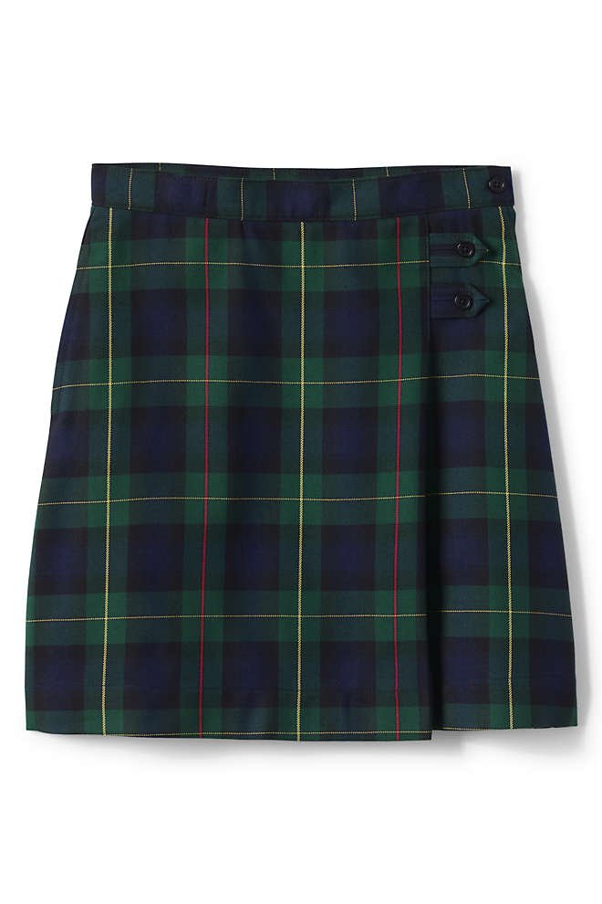 Girls Plus Plaid A-line Skirt Below the Knee, Front