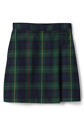 School Uniform Girls' Plaid A-line Skirt (Below The Knee)