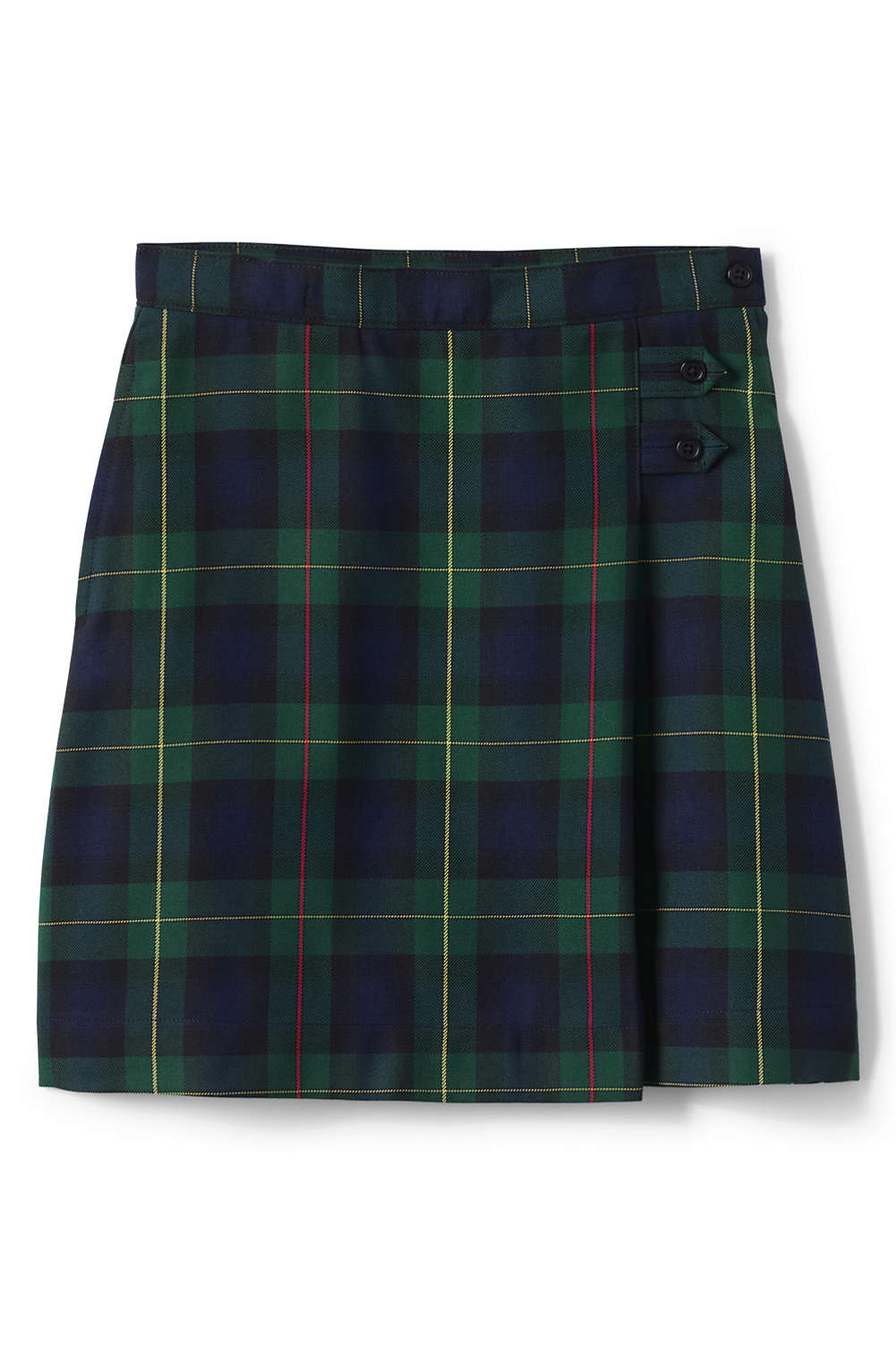 583635646c School Uniform Plaid A-line Skirt Below the Knee from Lands' End