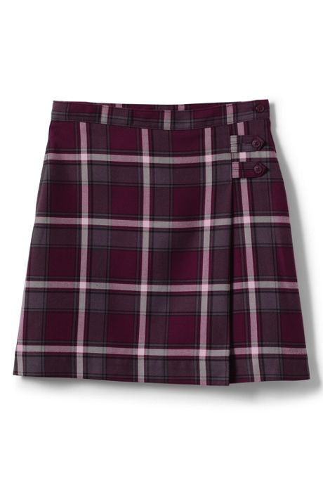 School Uniform Juniors Plaid A-line Skirt Below the Knee