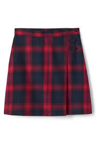 Juniors Plaid A-line Skirt Below the Knee