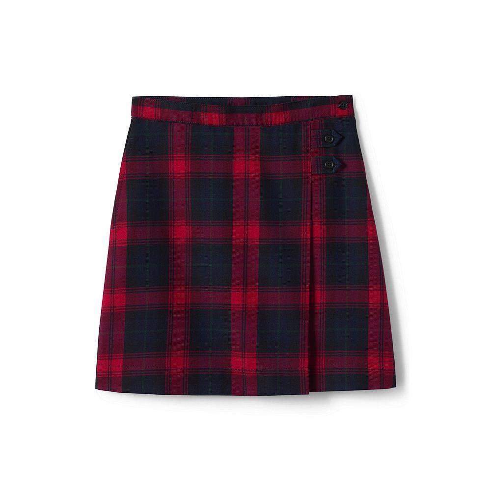 Lands' End School Uniform Little Girls Plaid A-line Skirt Below the Knee