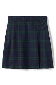 School Uniform Little Girls Plaid A-line Skirt Below the Knee