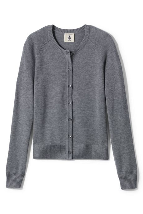 Girls Performance Fine Gauge Cardigan