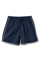 School Uniform Girls' Piped Athletic Shorts