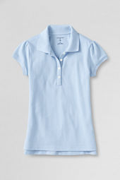 School Uniform Girls' Cap Sleeve Mesh Polo