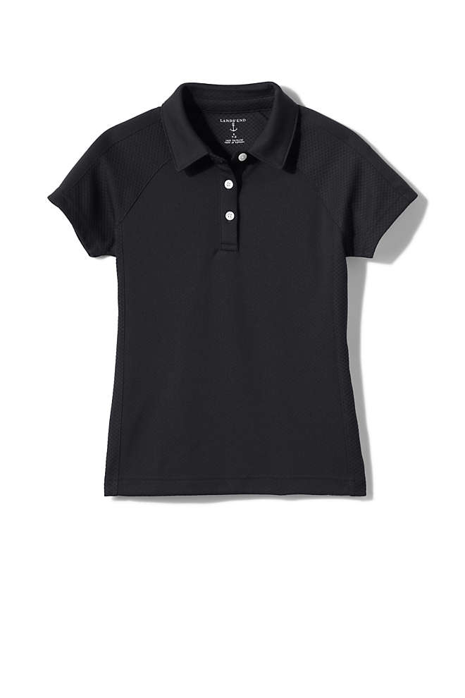 School Uniform Girls Active Polo Shirt, Front
