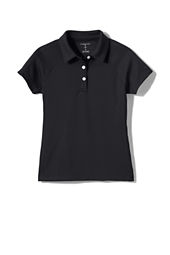 School Uniform Girls' Perfomance Textured Polo