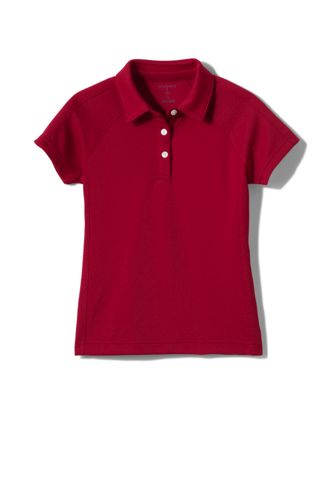 Girls' Active Polo - Red