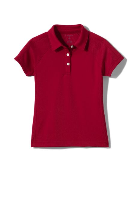 School Uniform Little Girls Active Polo Shirt