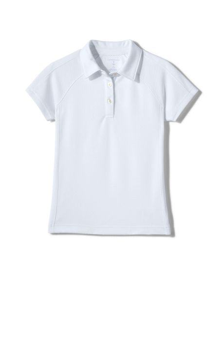 Girls Short Sleeve Textured Active Polo