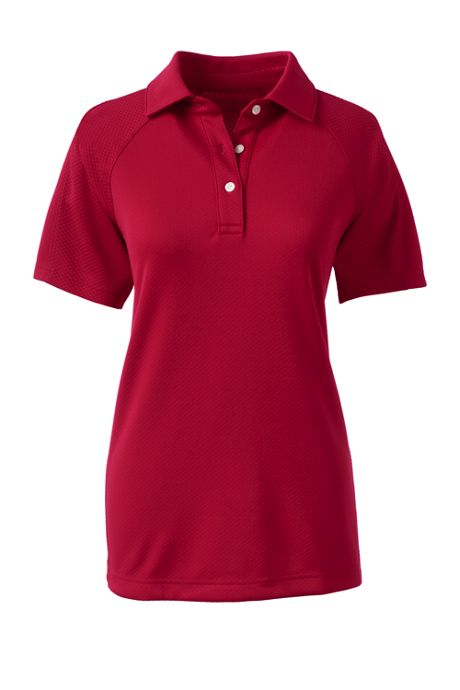 School Uniform Women's Short Sleeve Textured Active Polo