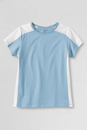School Uniform Girls' Short Sleeve Colorblock T-shirt