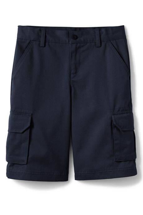 School Uniform Little Boys Stain Resistant Cargo Chino Shorts