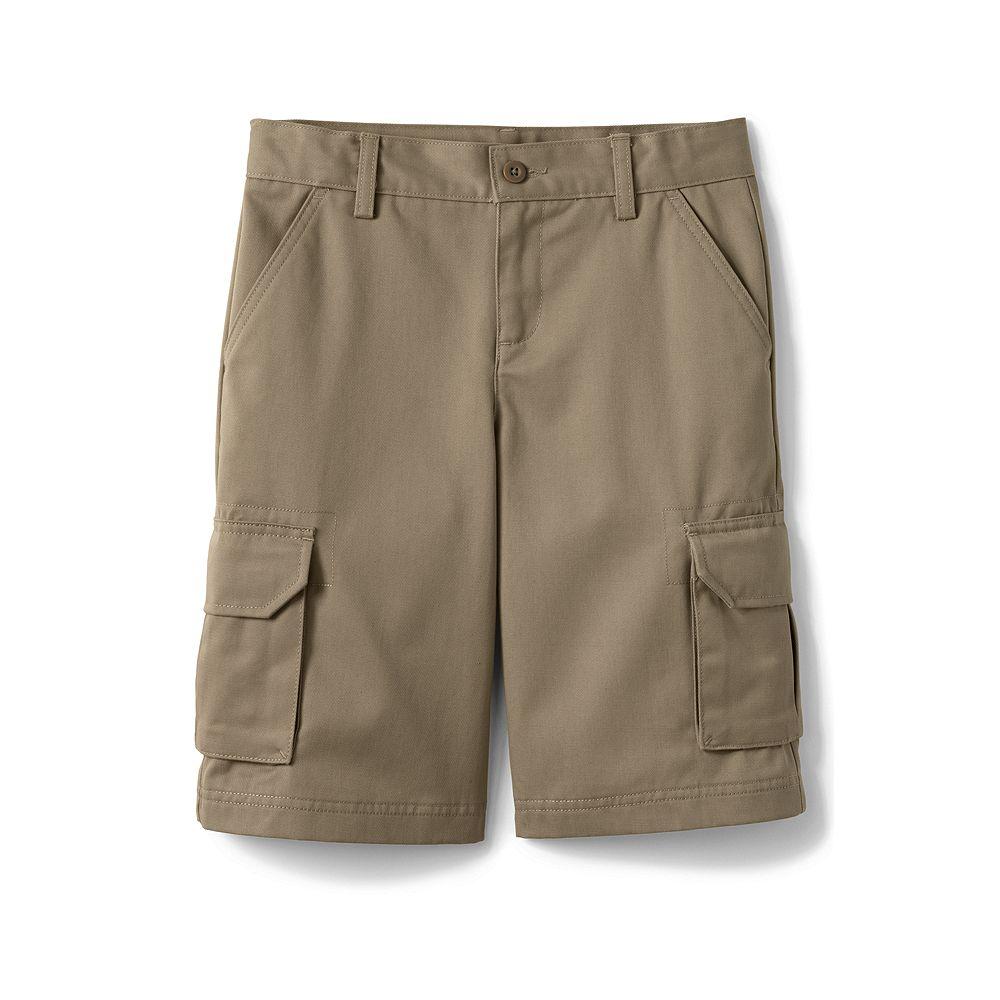 Lands' End School Uniform Boys' Stain & Wrinkle Resistant Cargo Shorts