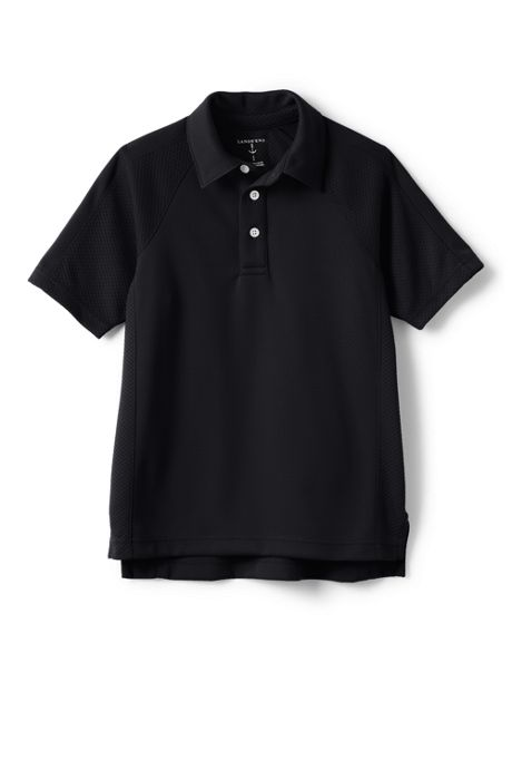 School Uniform Little Boys Short Sleeve Textured Active Polo