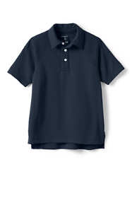 Boys Short Sleeve Textured Active Polo