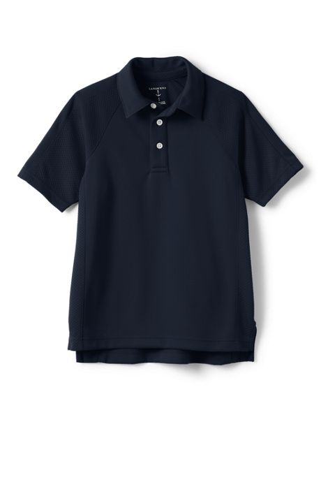School Uniform Boys Short Sleeve Textured Active Polo