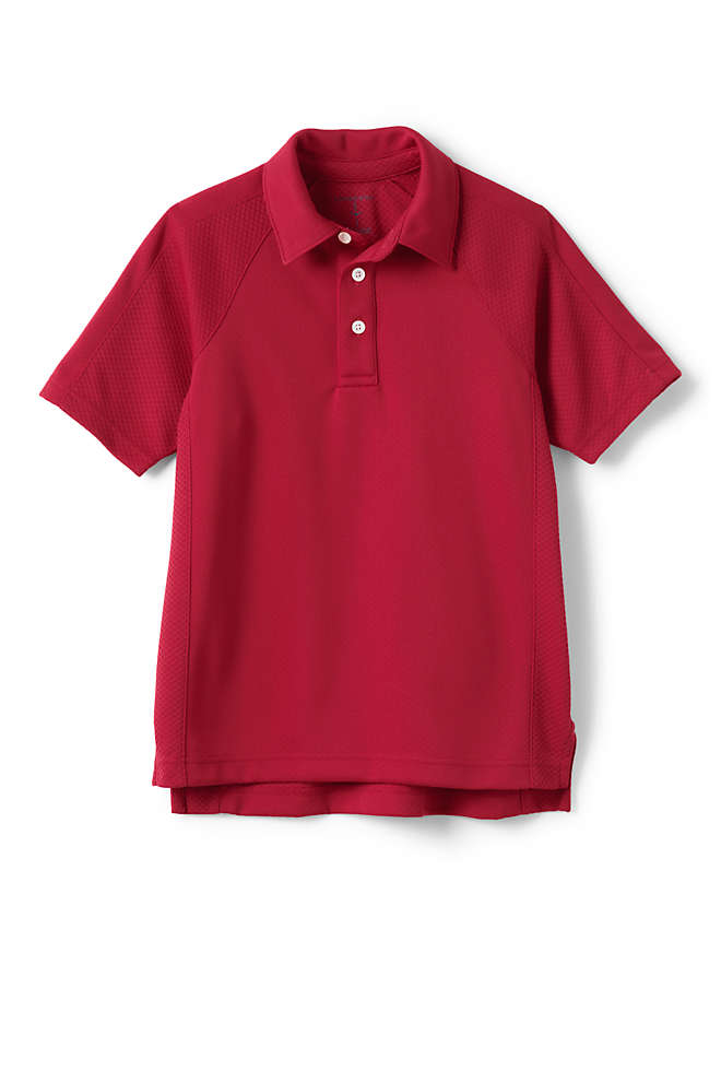 Little Boys Active Polo Shirt, Front