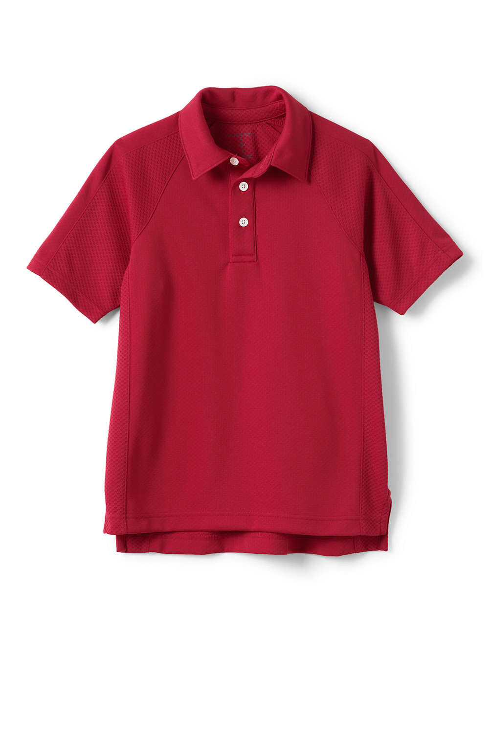School Uniform Short Sleeve Textured Active Polo From Lands End