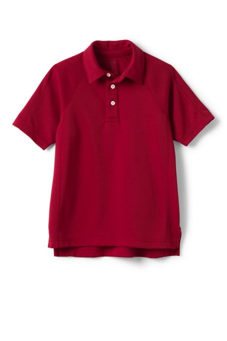 School Uniform Little Boys Active Polo Shirt