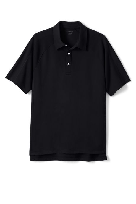 School Uniform Men's Short Sleeve Textured Active Polo