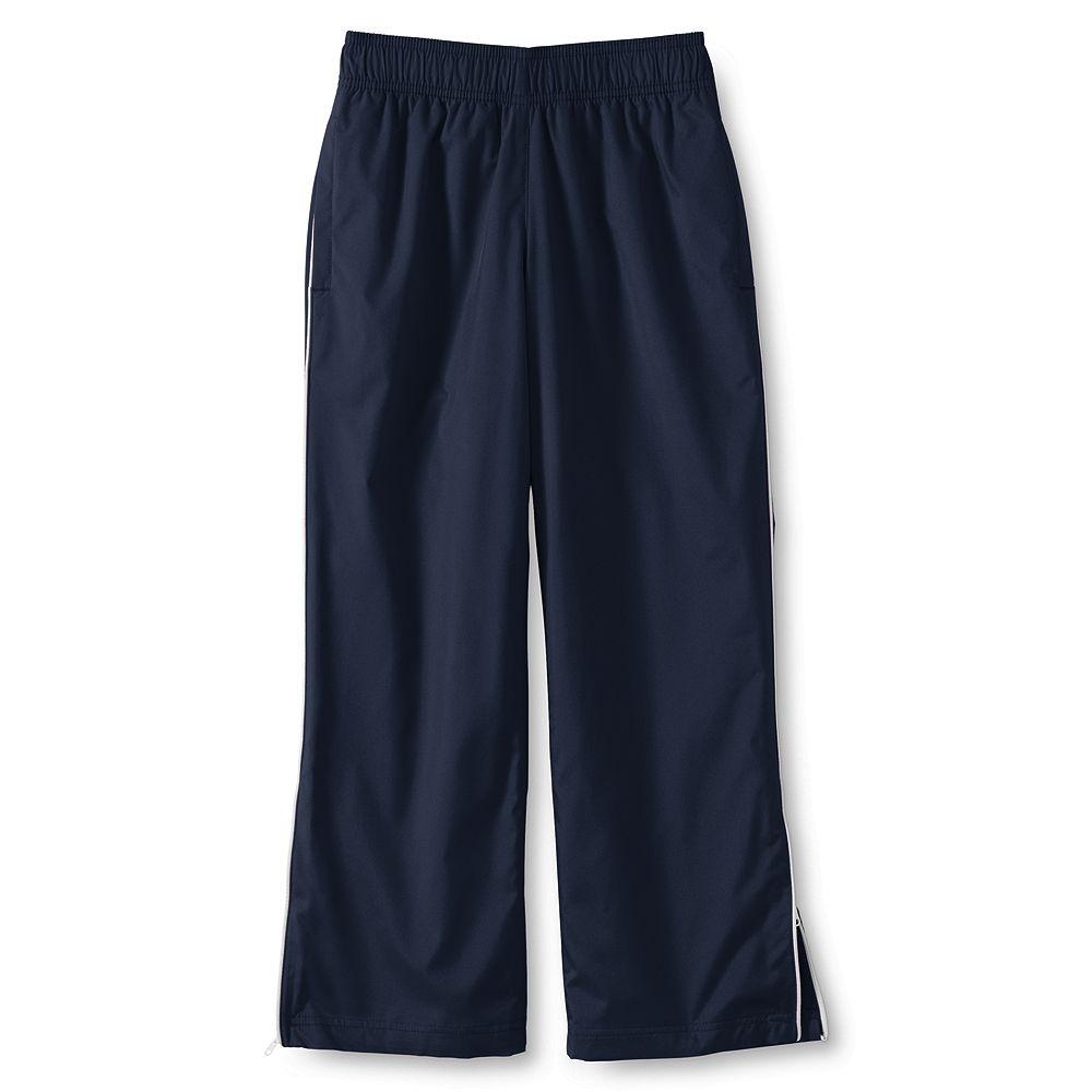 Lands' End School Uniform Little Boys' Piped Athletic Pants