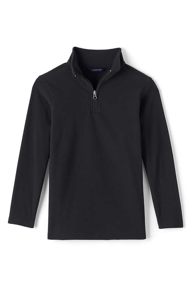 School Uniform Boys Lightweight Fleece Quarter Zip Pullover, Front