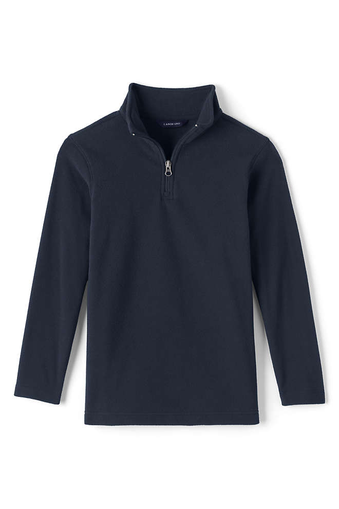Men's Lightweight Fleece Quarter Zip Pullover, Front