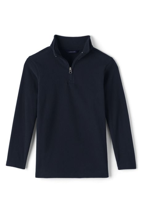 School Uniform Boys Lightweight Fleece Half Zip