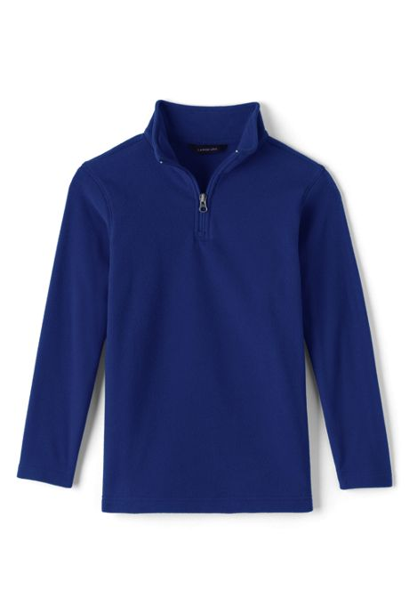 School Uniform Little Boys Lightweight Fleece Quarter Zip Pullover